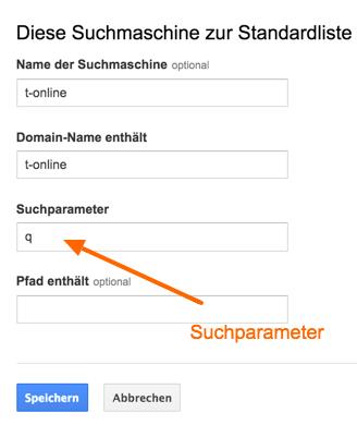 addorganic-suchparameter