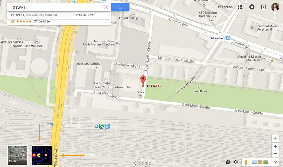121WATT auf Google Maps