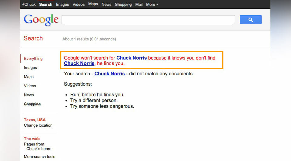 Chuck Norris Google Search