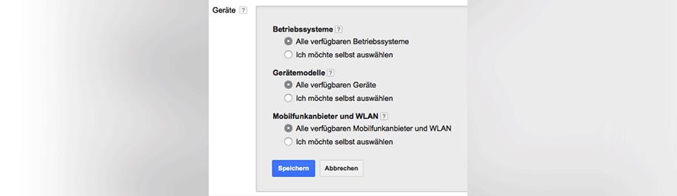 Targeting Optionen im Google Display Netzwerk