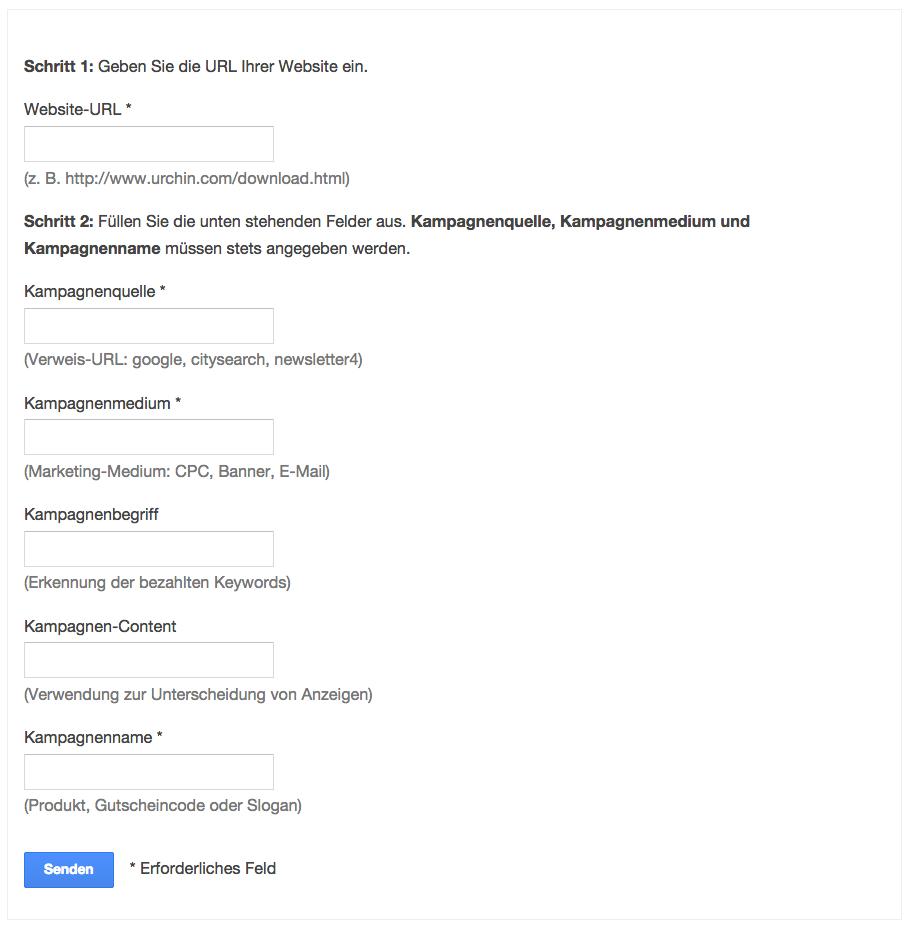 Google Tool zur Erstellung von Tagging-URLs