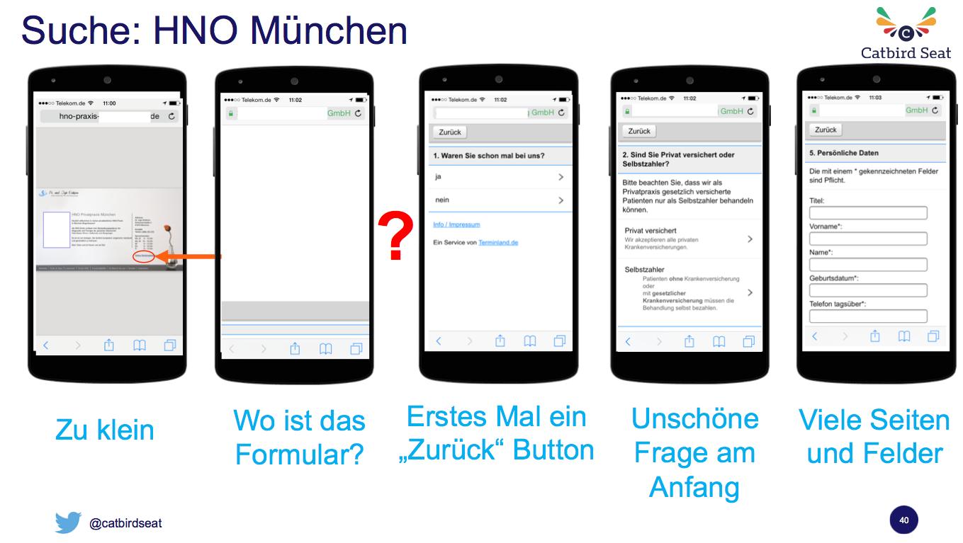 Wie man mobile Usability nicht erreicht - das HNO Beispiel