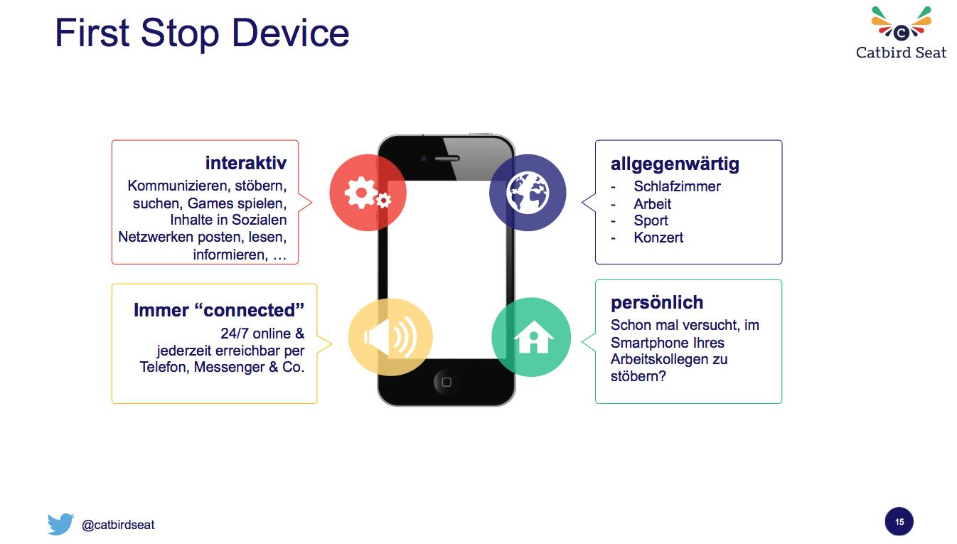 Vier Charakteristiken von mobilen Telefonen