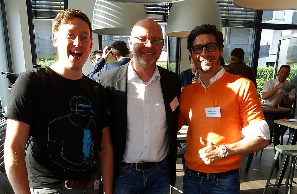 Die Referenten: Matthias Cada, Alexander Holl und Matthias Weth