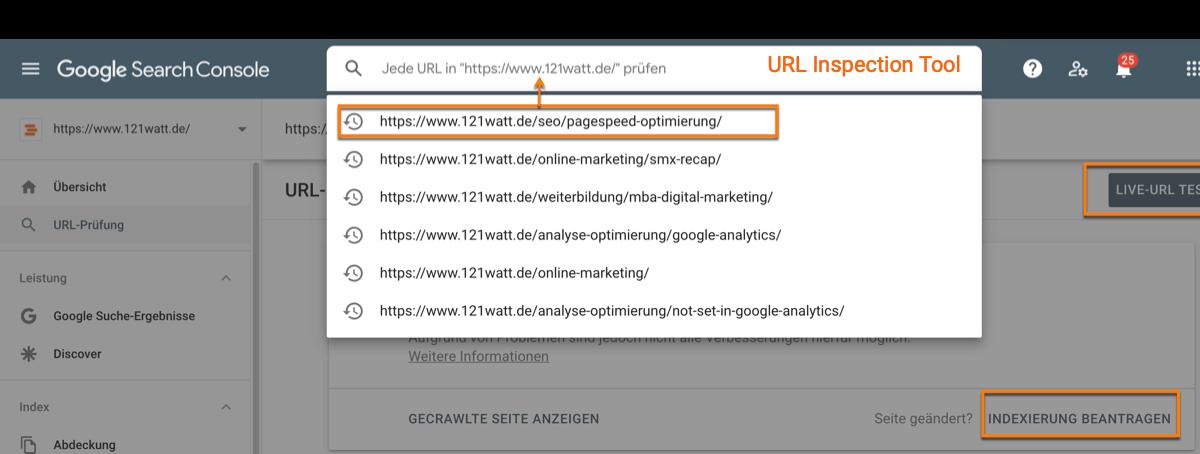 So verwendest du das URL Inspection Tool in der Google Search Console, wenn deine Seite nichtbei Google zu finden ist!