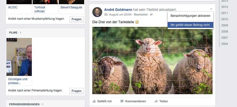 Begründungsfunktion für die existierende Gefällt mir nicht-Funktion auf Facebook