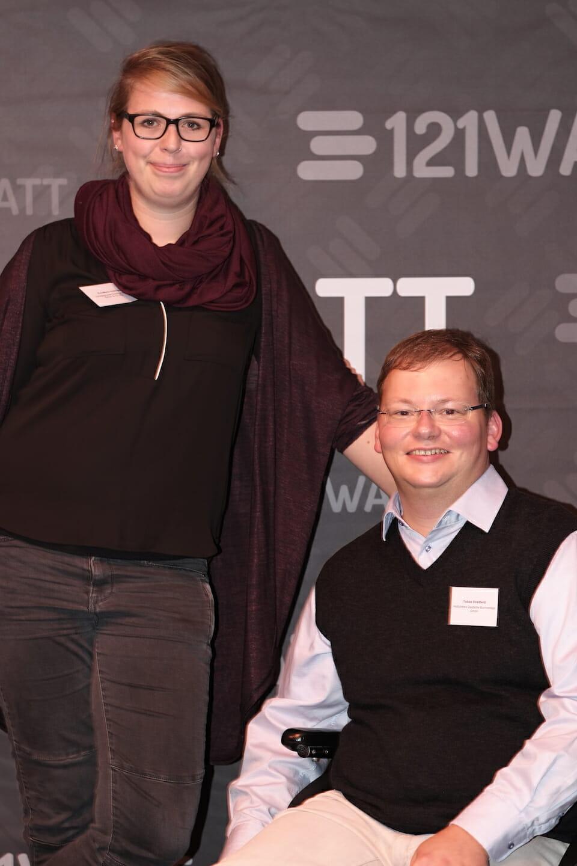 121WATT Fotowand mit Teilnehmern des Events
