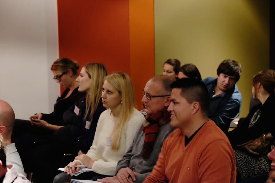 Die gespannten Zuhörer bei der zweiten 121WATT Night Academy