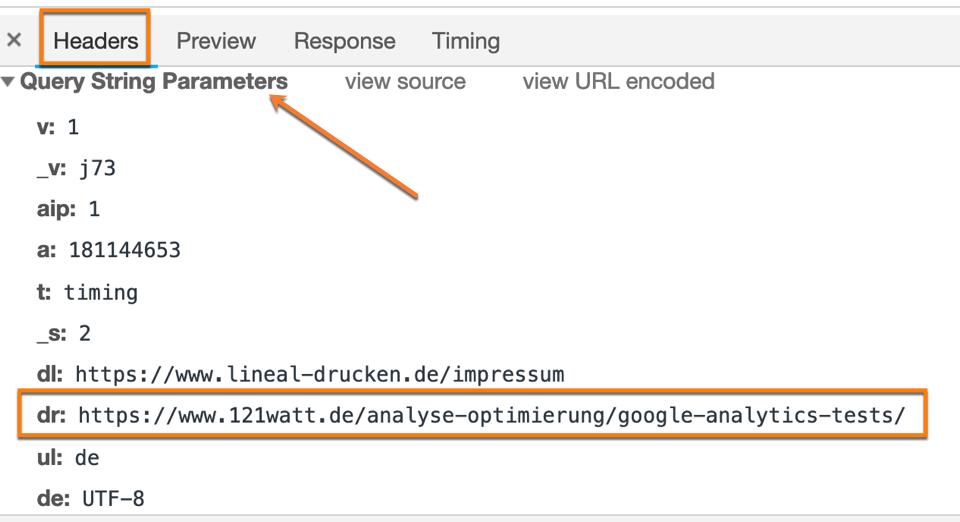 """Link mit """"normalen"""" Referrerdaten in Google Analytics"""