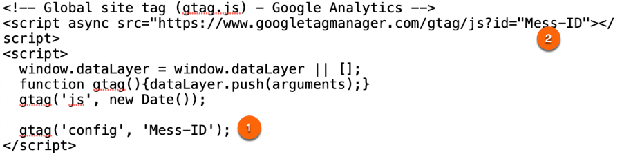 gtag.js zur Integration im Quellcode für Google Analytics 4 (GA4)