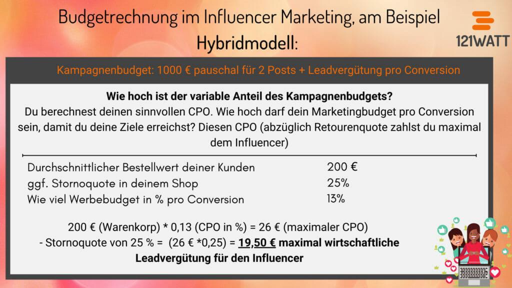 Was kostet Influencer Marketing? Eine Beispielrechnung zur Bezahlung im Influencer Marketing