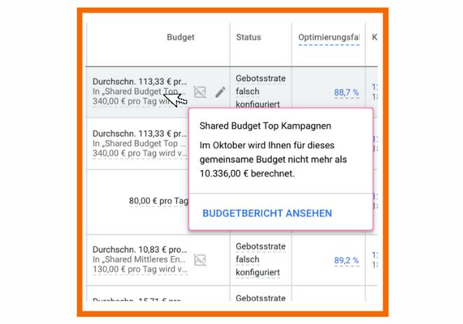Budgetbericht